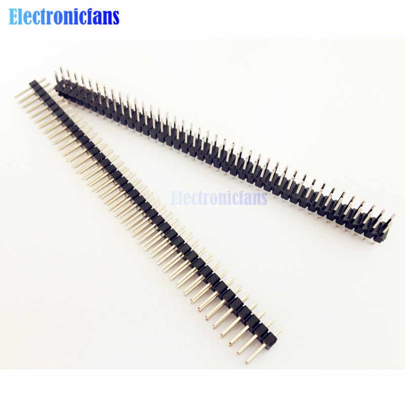 Diymore 5 sztuk 2X40 PIN dwurzędowe męskie 2.54MM Pitch do złącz stykowych taśmy 2X40PIN 2*40 40p 40PIN dla Arduino płytka drukowana