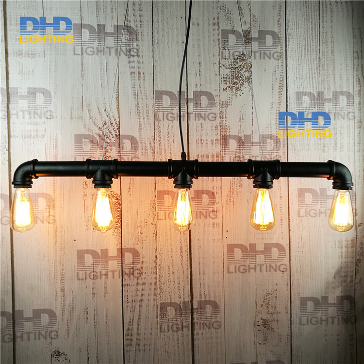 Loft Vintage Edison Pendant Lights Personalized Bar Lighting Industrial Vintage Water Pipe Pendant Lamp E27 Black/Antique Lamps