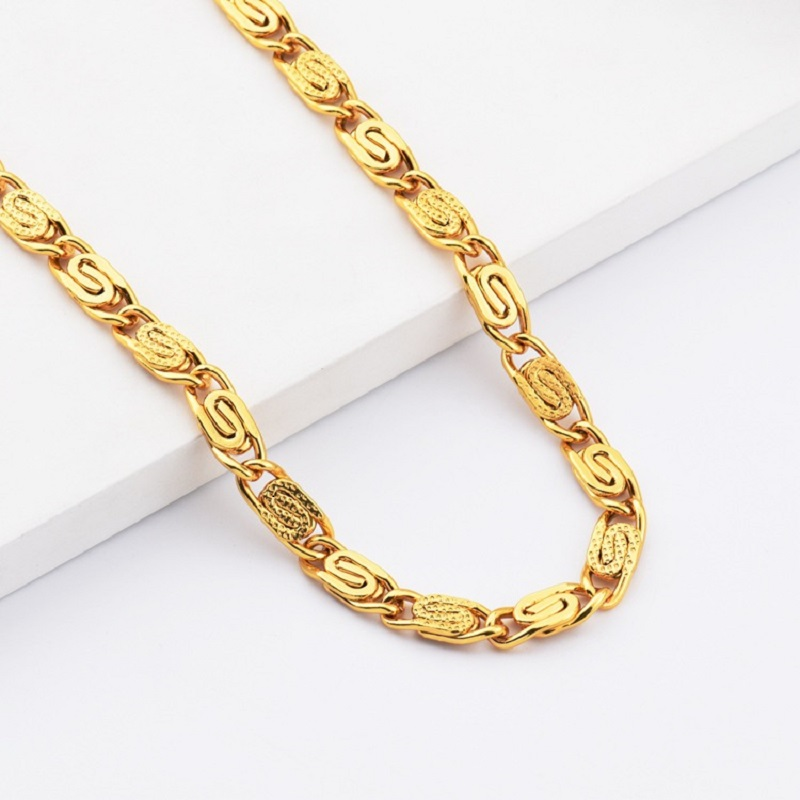 Men Hip Hop Gold Necklaces Crude Chains Design Jewelry Filling ...