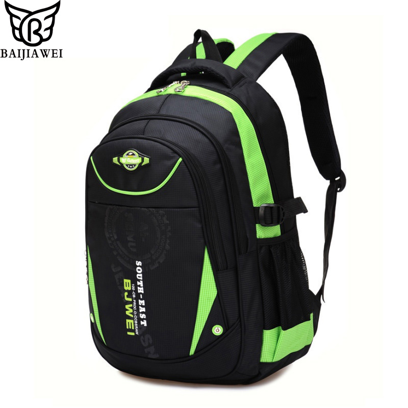 BAIJIAWEI New Children School Bags For Girls Boys Children Waterproof Backpack In Primary School Backpacks Mochila Infantil Zip delune new european children school bag for girls boys backpack cartoon mochila infantil large capacity orthopedic schoolbag
