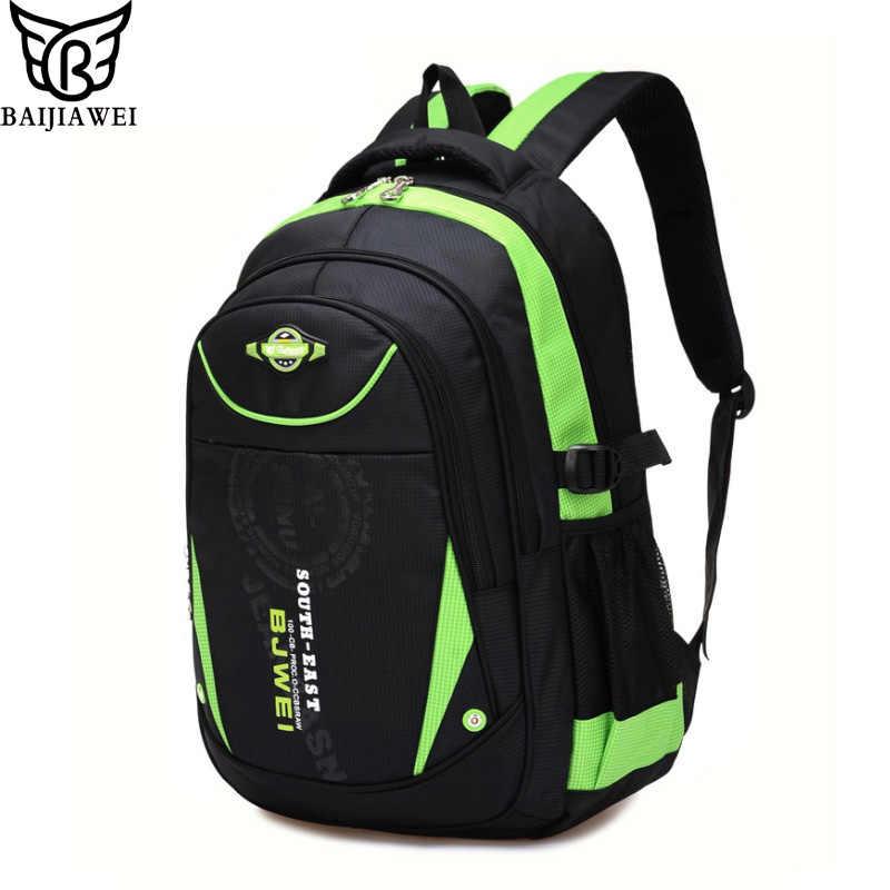 4bf65dd190a2 BAIJIAWEI новые детские школьные рюкзаки для девочек обувь для мальчиков  Дети непромокаемые рюкзак в рюкзак для