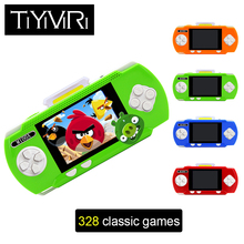 M100A Portable Pocket Handheld Mini Retro Game Player Video Game Console PVP handheld Game Player with 328 Different Games