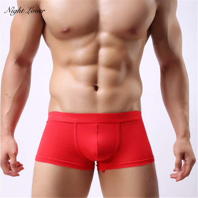62de5059f50f Hot Sale men panties sexy boxer 5 pcs/lot sexy men boxer shorts men's  boxers male underwear 5-colors size L-XXL
