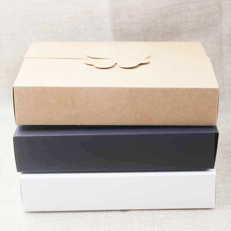 DIY gifts box ,white/kraft cookie cake homemade display box, wedding favors decoration package box 10pcs size 17*13*3.5cm