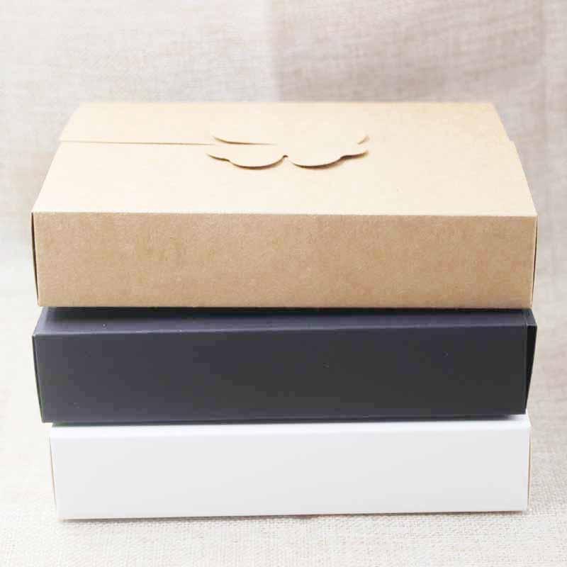 DIY Gifts Box ,white/kraft Cookie Cake Homemade Display Box, Wedding Favors Decoration Package Box 10pcs Size 17*13*3.5cm