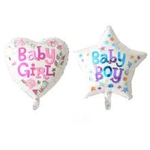 girl heart / boy star happy birthday foil balloons