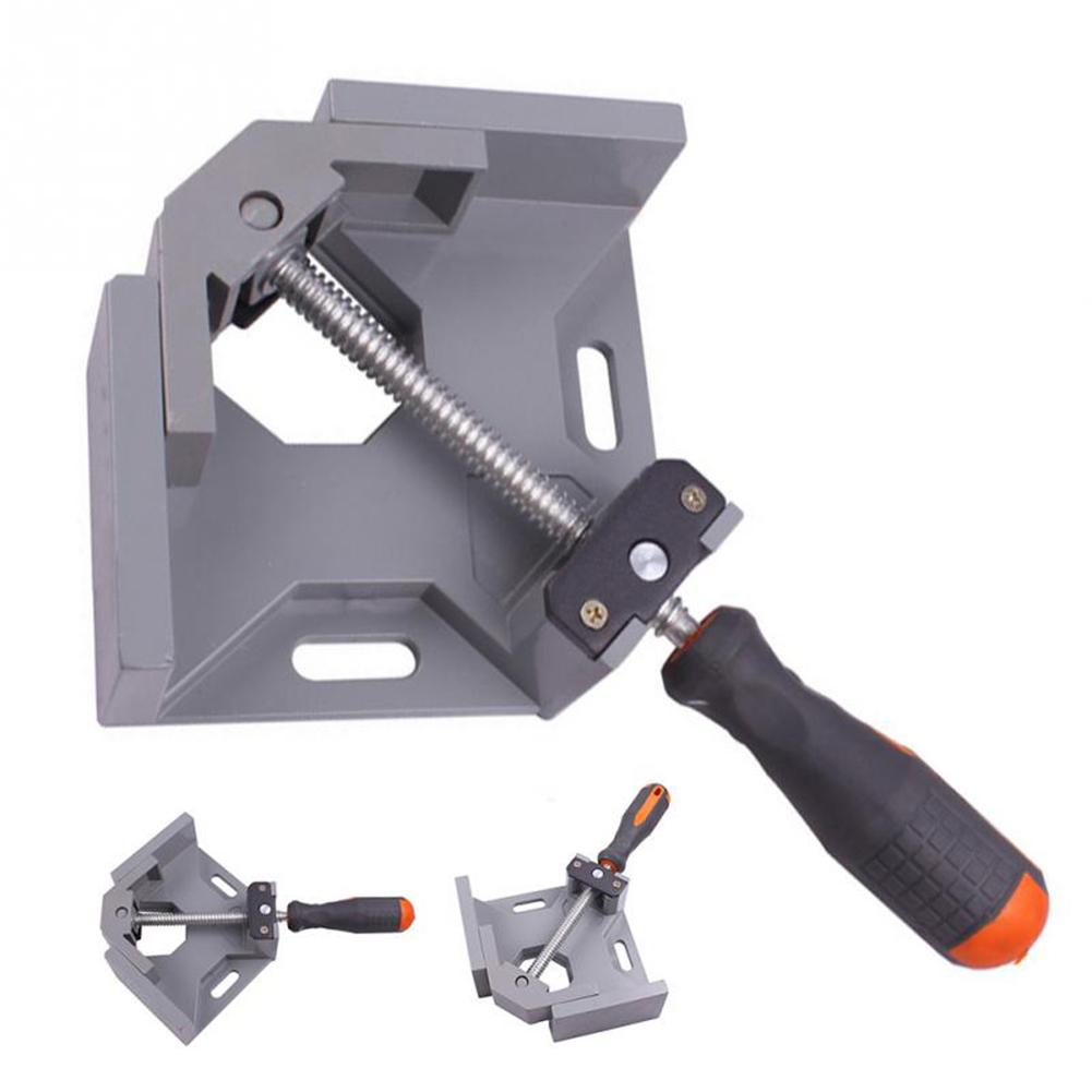 90 Degree Right Angle Clamp Single Handle Woodworking Clamp Aluminum Alloy Rigging Angle Clip ForFish Tank Photo Frame Clip Tool цена