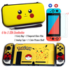 Nintend Switch NS Accessories Carry Bag + 2 Tempered Glass Film + PC Shell Case + Analog Caps for Nintendo Switch Game Console