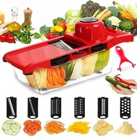 Creative Mandoline Slicer Vegetable Cutter with Stainless Steel Blade Manual Potato Peeler Carrot Grater Dicer