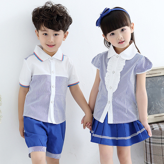 Hot Sales Boys And Girls School Uniforms Fashion Students Girl Skirt Boy Short Pant Children Clothing