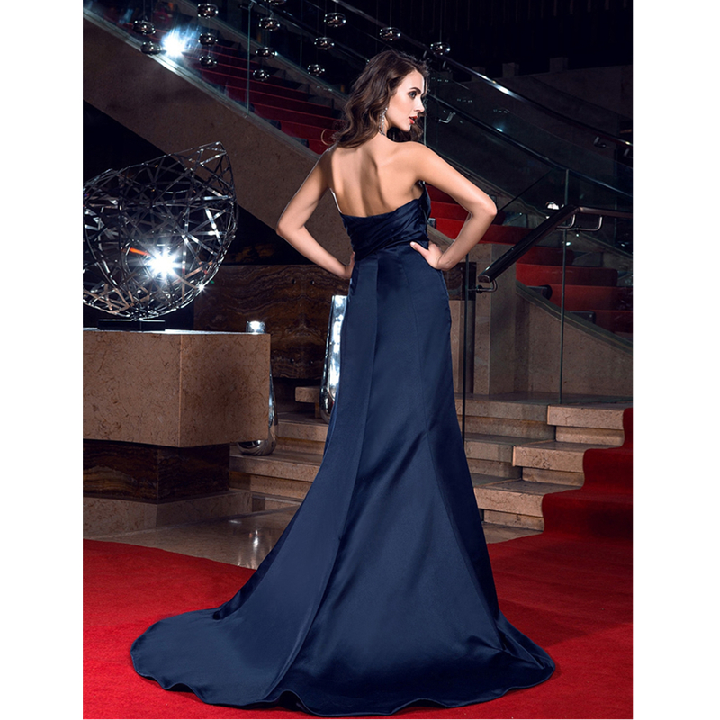TS Couture Sheath Column Sweetheart Sweep   Brush Train Satin Prom Formal  Evening Dress with Side Draping-in Prom Dresses from Weddings   Events on  ... f60593b24b48