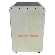 Afanti Music Maple / Birch Wood / Natural Cajon Drum (KHG-186)