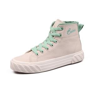 Image 5 - Zapatos de lona para mujer, zapatillas informales transpirables de un solo alto, para Primavera, 2020