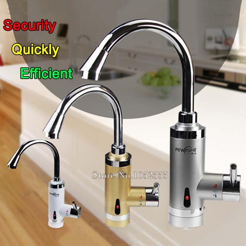 Haute qualité 220 V 360 degrés Rotation électrique chauffage robinet cuisine robinet rapide chauffage instantané robinet de chauffe-eau CP17