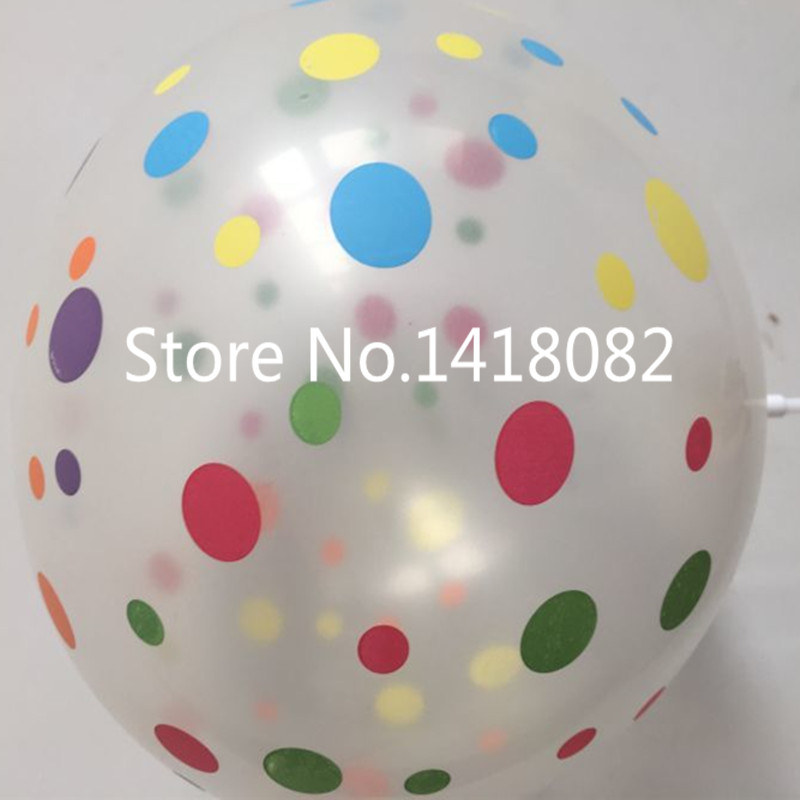 Globo de impresión transparente 50 unidades / lote 12 pulgadas 2.8 g - Para fiestas y celebraciones - foto 2