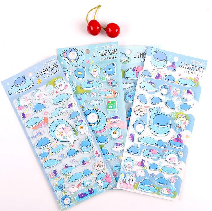 все цены на Creative Marine Organism Cartoon 3D Diary Sticker Scrapbook Decoration Stickers PVC Stationery DIY Stickers School Office Supply