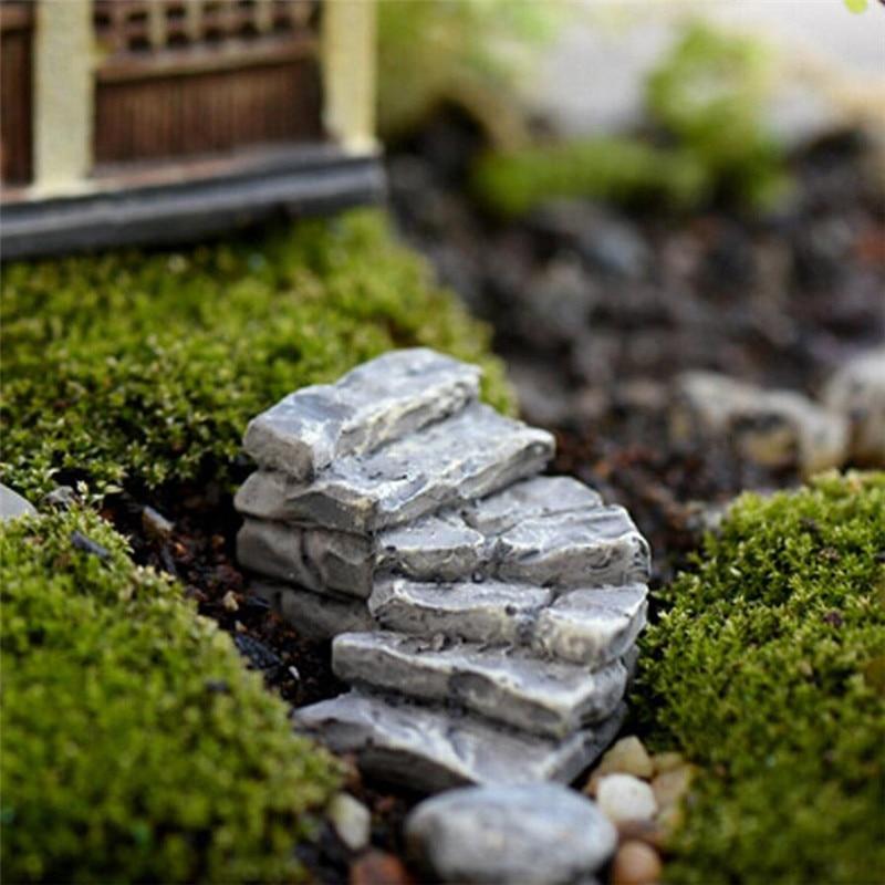 scrabble letters Miniature Stone Bend Bridge Stairs Home Decor Fairy Ornament Garden houten letters x30426