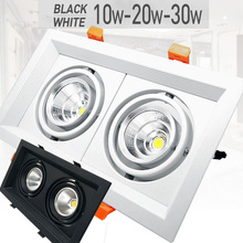 1Pcs 10W 20W 30W 110V-220V LED DIMMABLE Ceiling Downlight Recessed Wall lamp Spot light With Driver For Home Lighting