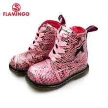FLAMINGO ฤดูใบไม้ร่วง Boot Boot ลื่นอุ่นเด็ก Lace Up & Zip ขนาด 22 28 เด็กรองเท้าสำหรับสาวจัดส่งฟรี 82B BNP 0959/0960