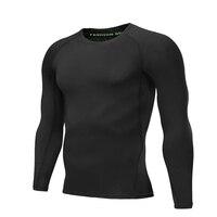 MMA crossfit 2018men's nueva caliente prendas de punto de manga larga térmica ropa de la aptitud negro capa base de compresión Camiseta de chándal de los hombres