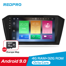 4G RAM Android 9.0 Car Radio Stereo Multimedia Player For Volkswagen Passat Magotan 2015-2017 GPS Navigation FM headunit NO DVD 10 2 32g 2 5d ips android 8 1 car dvd multimedia player gps for volkswagen vw passat b6 b7 2011 2015 radio stereo navigation