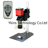 Remote controller 13MP 2 in 1 HDMI VGA Industry Microscope Video Camera + 8X 130X Zoom C mount Lens for smartphone pcb repair