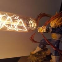 Dragon Ball Z Vegeta Super Saiyan Led Light Lamp Cannon Dragon Ball Super Son Goku Led Table Desk Lamp Luces Navidad 1