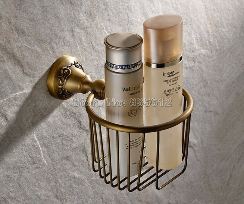 Antique Brass Bathroom Toilet Paper Roll Holder Basket Bathroom Fitting Wba426 kidniu photography wallpaper backdrops children photo studio winter snow vinyl background props sunrise 9x5ft win1393
