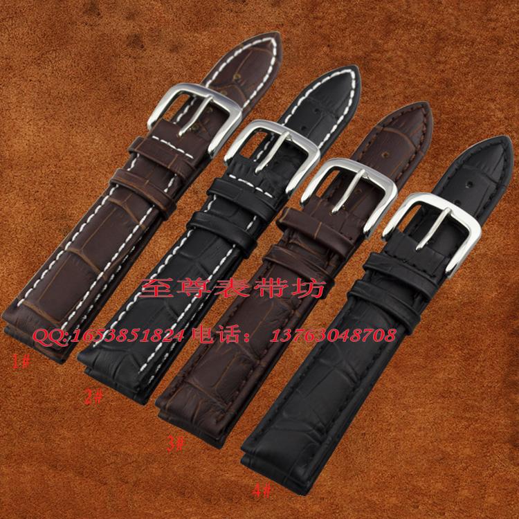 Prix pour Montre strap18mm 19mm 20mm 22mm 24mm 25mm 26mm Bracelet Noir Brun en cuir véritable Montre Bracelet pour hommes femmes montre