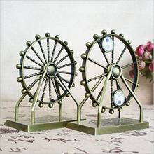 New Retro The London Eye Ferris Wheel Ornament Home Office Decoration Rotating illuminating Alloy Model Metal Craft