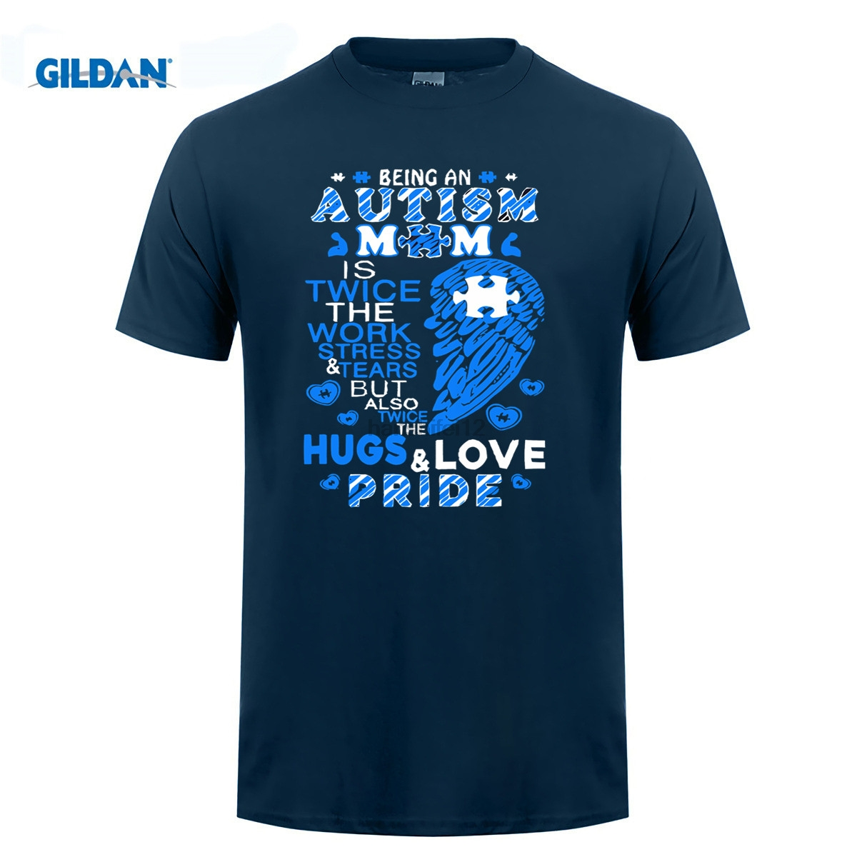 GILDAN Étant Un L'autisme Maman T-shirt L'autisme Maman T Chemise