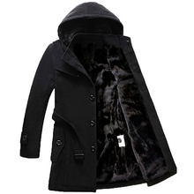 Vogue anmi. Длинные шерстяные толстые куртки больше плюс размер пальто мужские пальто зимнее пальто Мужская ветровка толще S-4XL