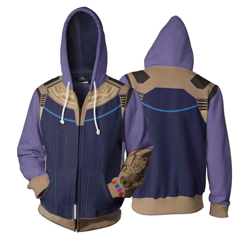 Avengers Infinity War Thanos 3D Print Hoodies Unisex Streetwear Spring Winter Hoody Casual Zipper Sweatshirt Hooded S-5XL