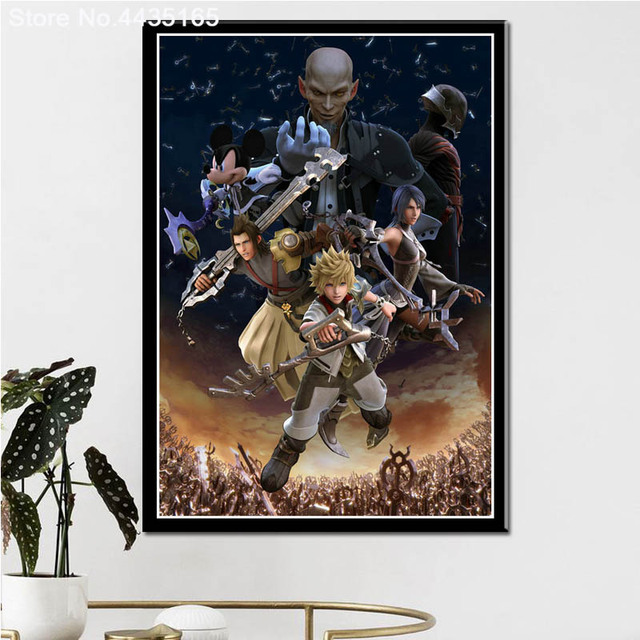 Posters and Prints Kingdom Hearts Game Art Poster wall art Picture Canvas Painting for Modern Living Room Home Decoration 3