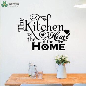 YOYOYU Decalque Da Parede Acessórios de Cozinha Coração Da Casa Citação de Vinil Adesivos de Parede Removível Decoração Moderna Decoração CT636 Muraux