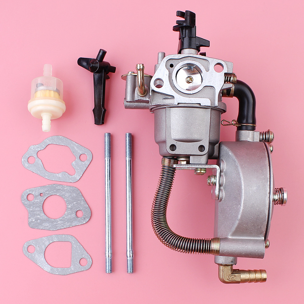 carburetor with gasket bolt fuel filter kit for honda gx200 gx160 gx 160 200 lawn mower engine motor spare parts [ 1000 x 1000 Pixel ]