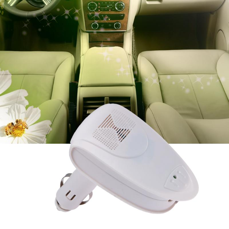 все цены на White Vehicle Air Purifier Auto Car Fresh Air Anion Oxygen Bar Ionizer Ozone Air Fresher Ionizer Interior Accessories DC 12V онлайн