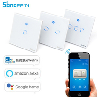 Sonoff T1 UK EU WiFi RF APP Touch Control Wall Light Switch 1 2 3 Gang