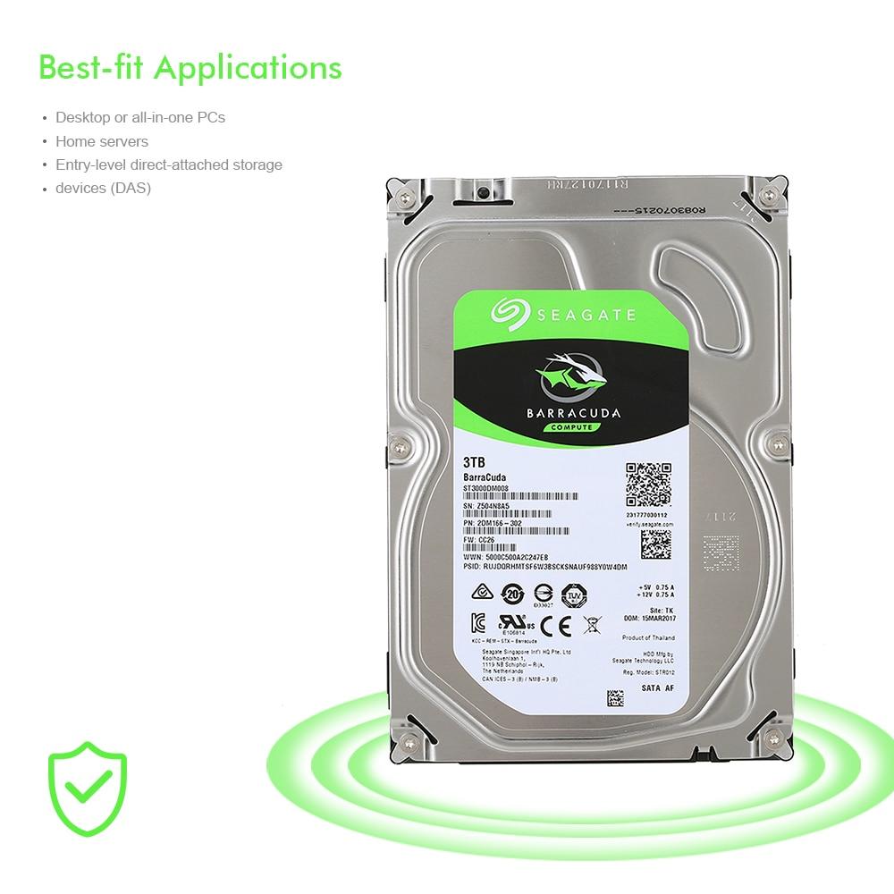 Disque dur interne Seagate 3 to HDD de bureau 5400 tr/min SATA 6 Gb/s 64 mo Cache 3.5 pouces ST3000DM007/ST3000DM008 HDD de l'ordinateur