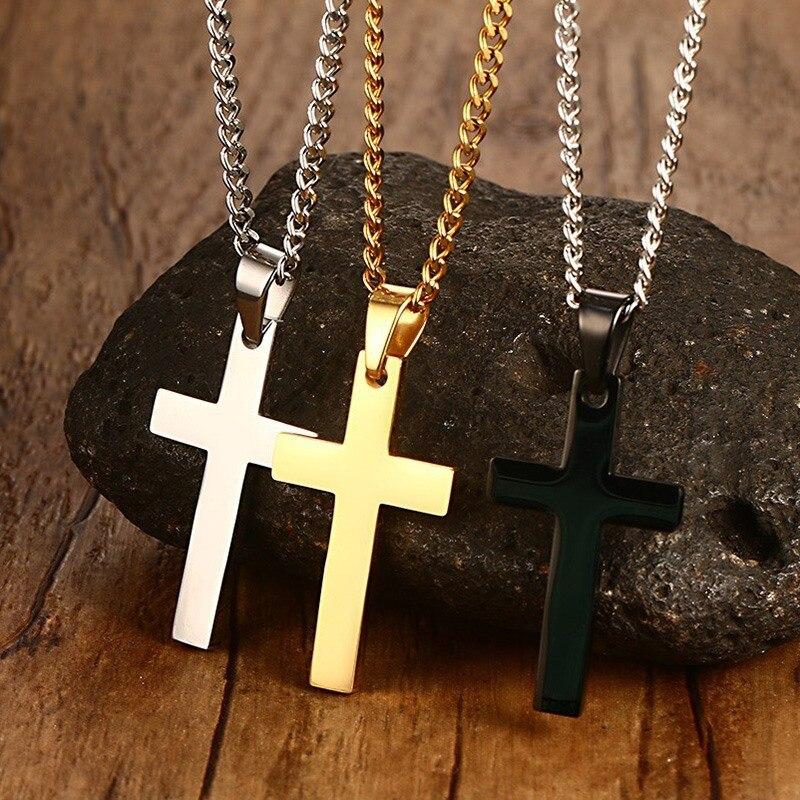 VNOX Classic Mens Cross Pendant Necklace 24