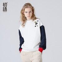 Toyouth Fashion Autumn Winter Turtleneck Sweatshirt Long Sleeve Cartoon Style Loose Cotton Hoodies Cotton Casual Sweatshirt
