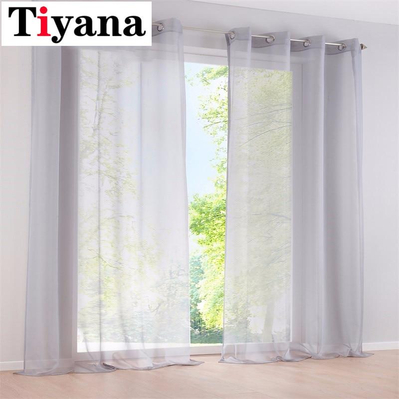 1 Einzel Pc Voile Sheer Fenster Dressing Vorhang TÜlle Panel Behandlung Drapieren 184d3