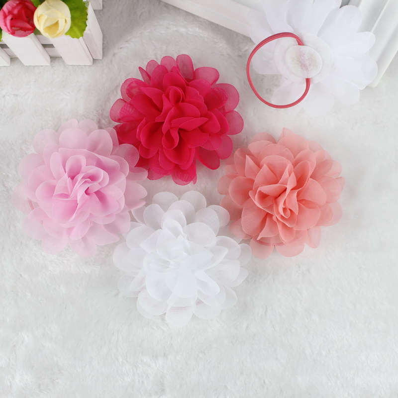 b512294978e isnice 2pcs Chiffon Flowers Children Girls Hair Accessories Rubber Bands  Barrettes Girl Headwear Bow hair clip-in Hair Accessories from Mother   Kids  on ...