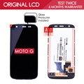 100% probado original negro blanco tft 1280x720 pantalla para motorola moto g xt1032 xt1033 pantalla lcd con pantalla táctil digitalizador