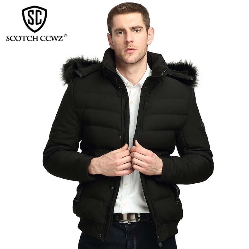 SCOTCH CCWZ Brand RU/EU size Thick Keep Warm Casual Winter Jacket Men Parkas 2017 Jackets And Coats Clothing High quality 71725 free shipping winter parkas men jacket new 2017 thick warm loose brand original male plus size m 5xl coats 80hfx