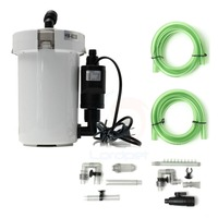 Canister Filter w/Sponge inside Canister Aquarium Filter with Pump Ultra quiet 20 120L Tank HW602B HW603B