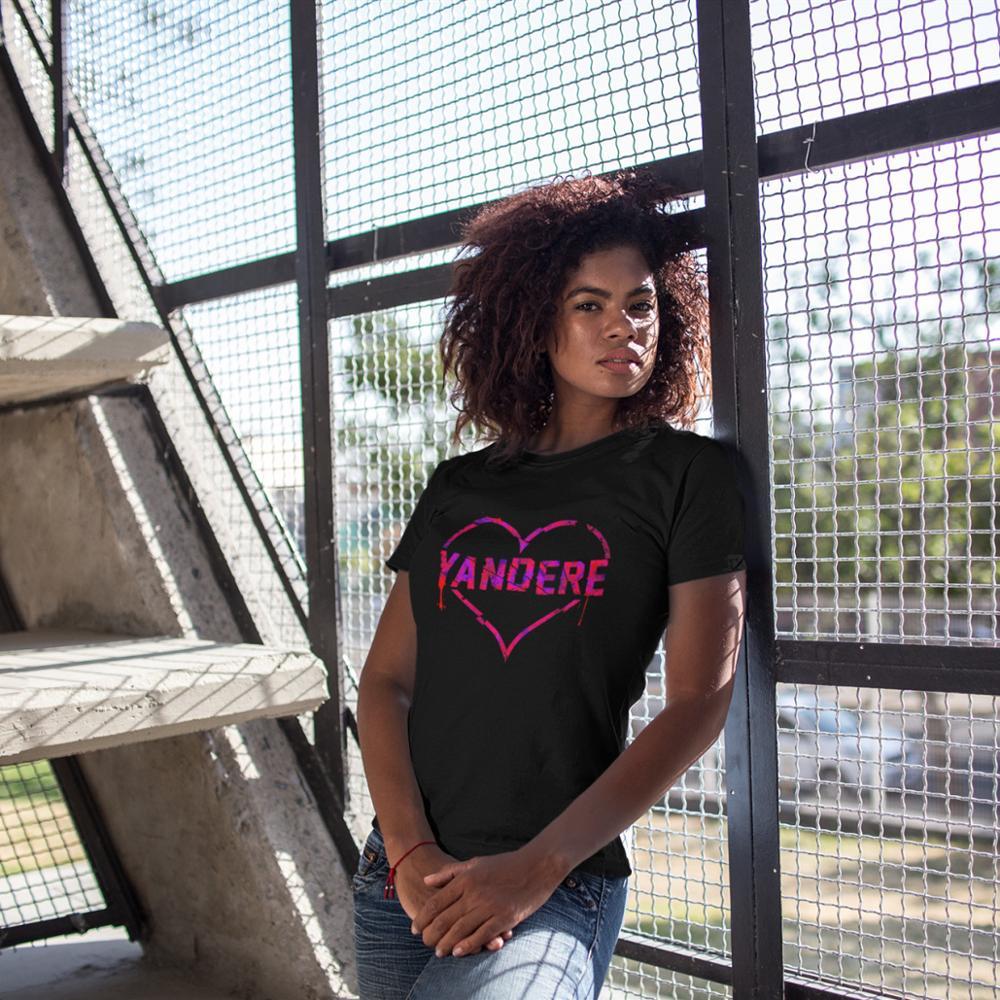 Notice Me Senpai T-Shirt Yandere T Shirt O Neck Cotton Women tshirt Printed Oversized Street Wear Short-Sleeve Ladies Tee
