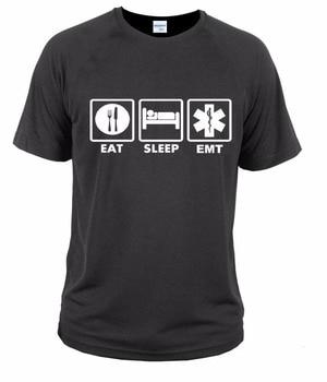 Novedosa camiseta de hombre con estampado 3D EMT | técnico médico de emergencia, camisetas con logo paramédico