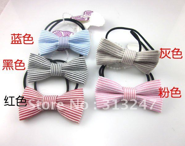 Free shipping!Great!! Korean new butterful pony tail,ponytail holder,hair accessories,for gift