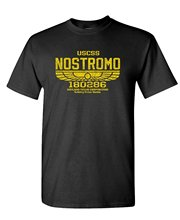 What T Shirt Crew Neck Uscss Nostromo Retro Vintage Style Monster Short Sleeve Compression Mens T Shirts